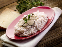 Risotto with truffle Stock Photo