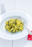Risotto. A typical Italian rice dish with vegetables, risotto Royalty Free Stock Image