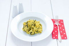 Risotto. A typical Italian rice dish with vegetables, risotto Stock Photography