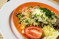 Risotto van de kip met groenten Royalty-vrije Stock Foto's