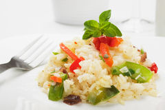 Risotto with vegetable Stock Photos