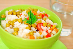Risotto with vegetable Stock Image