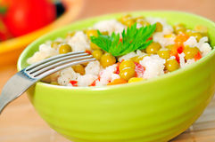 Risotto and vegetable Stock Image