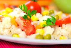 Risotto with vegetable Royalty Free Stock Photo