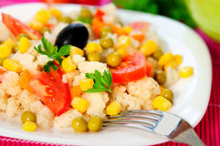 Risotto and vegetable Royalty Free Stock Photos