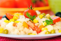 Risotto with vegetable Stock Photo