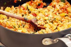 Risotto with vegetables Royalty Free Stock Photos
