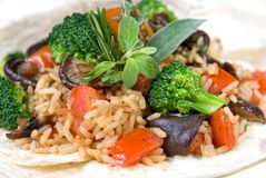 Risotto with vegetables Royalty Free Stock Image