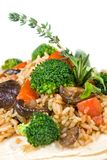 Risotto with vegetables Royalty Free Stock Photo