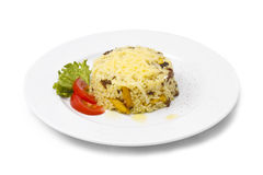 Risotto. On white background Royalty Free Stock Photo