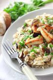 Risotto with white mushrooms Royalty Free Stock Photography