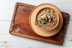 Risotto with wild cep mushrooms Royalty Free Stock Photos