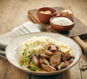Risotto with wild mushrooms Stock Image