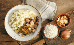 Risotto with wild mushrooms Stock Images
