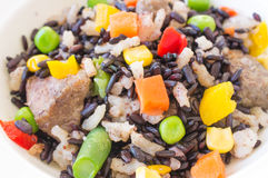 Risotto with wild rice Stock Photo