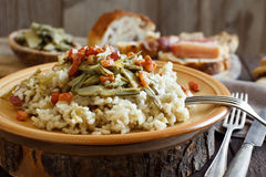 Risotto With Artichokes And Bacon Stock Image