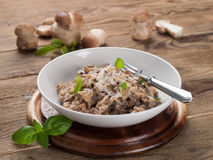 Risotto With Wild Mushrooms Royalty Free Stock Photos