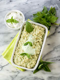 Risotto with yogurt and basil Stock Photography