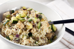 Risotto with Zucchini Royalty Free Stock Photo