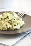 Risotto with zucchini Stock Photo