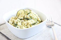 Risotto with zucchini Royalty Free Stock Image