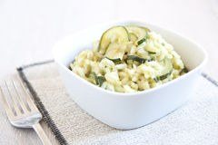 Risotto with zucchini Stock Images