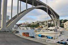 Risoy bro i Haugesund, Norge, Europa Royaltyfria Bilder