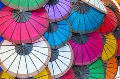Rispapperparaplyer Arkivbild