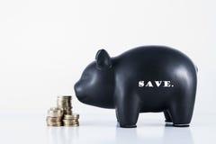 Risparmi del porcellino salvadanaio Fotografia Stock
