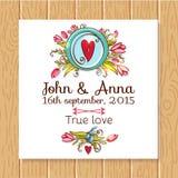 Risparmi dell'invito di nozze le carte di data Immagine Stock Libera da Diritti