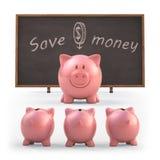 Risparmi i soldi Fotografia Stock