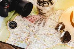 Risparmi i soldi per il viaggio di viaggio Accessori di viaggio per il viaggio TR Fotografia Stock