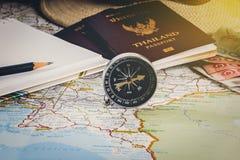 Risparmi i soldi per il viaggio di viaggio Accessori di viaggio per il viaggio TR Immagini Stock