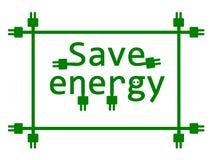 Risparmi l'energia. Fotografie Stock