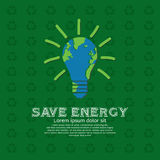 Risparmi l'energia. royalty illustrazione gratis