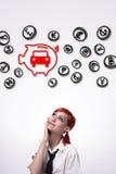Risparmia i soldi sull'automobile fotografie stock