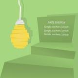 Risparmiare energia Fotografie Stock