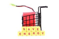 Risparmiare energia Fotografie Stock Libere da Diritti
