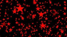 Risparmiatore di schermo di computer animato astratto con le stelle rosse archivi video