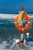 Risparmiatore di vita della spiaggia fotografia stock libera da diritti