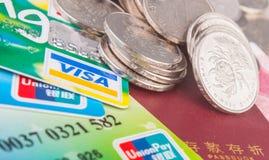 Risparmio cinese e consumo della banca Immagini Stock Libere da Diritti