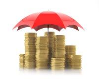 Risparmio dei soldi, concetto di protezione Fotografie Stock Libere da Diritti