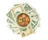 Risparmio dei soldi per il pensionamento Fotografia Stock Libera da Diritti