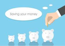 Risparmio dei vostri soldi Fotografia Stock