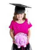 Risparmio del bambino per l'istituto universitario Fotografia Stock Libera da Diritti