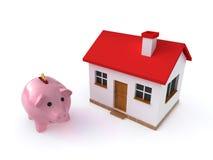 Risparmio del bene immobile Fotografie Stock
