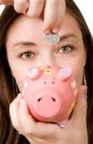 Risparmio della banca Piggy Fotografie Stock