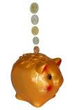 Risparmio della Banca Piggy Immagine Stock