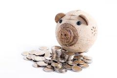 Risparmio della banca Piggy Fotografia Stock
