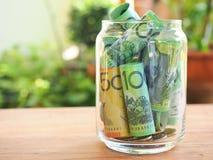 Risparmio della banconota dell'Australia Immagini Stock
